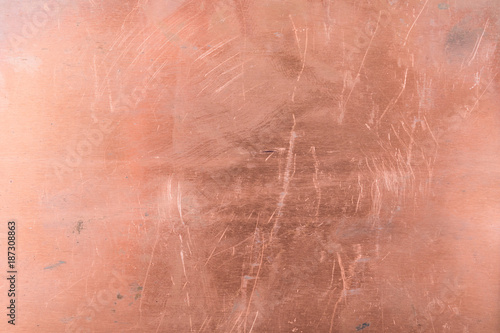 Scratched texture copper metal background