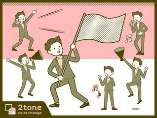 2tone type suit short hair beard men_set 7