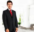 Handsome manager portrait