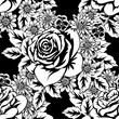 seamless monochrome pattern - 187315692