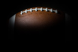 American football on dark background. Super bowl