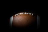 American football on dark background. Super bowl