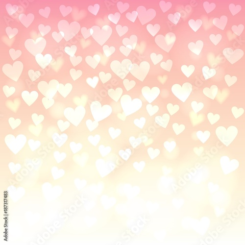 shiny hearts bokeh