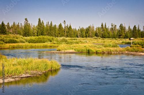Foto Murales Madison river near West Yellowstone, Montana, USA