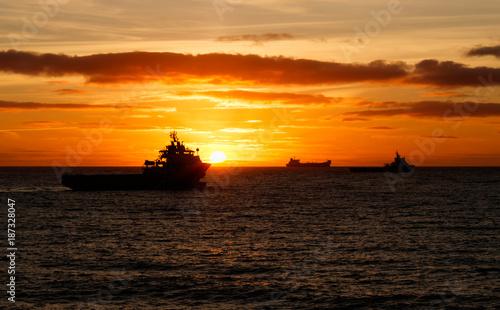 Keuken foto achterwand Zee zonsondergang Beautiful sunrise Aberdeen bay
