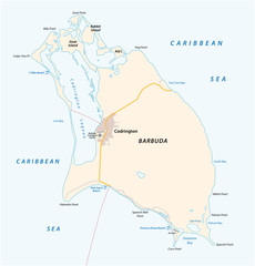 Barbuda vector map