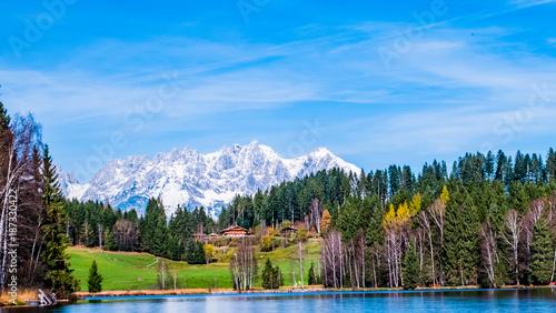 Aluminium Blauwe hemel Wilder Kaiser Bergkette