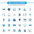Seo and Developement icons