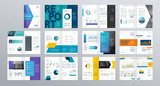Design vector template layout for company profile ,annual report with cover, brochures, flyers, presentations, leaflet, magazine,book and  a4 size.  - 187333497