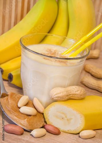 Tuinposter Milkshake Milkshake - Banana - Peanut Butter