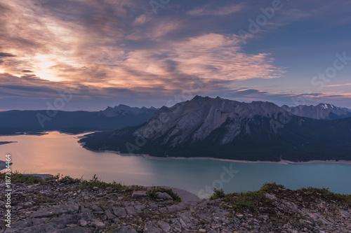 Sunrise at Abraham Lake Poster