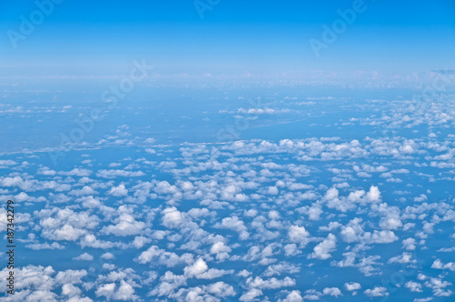 Cloudscape from airplane window
