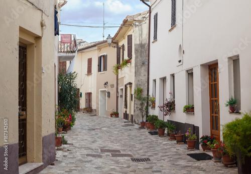 Old little italian street. - 187342610