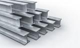 steel metal beam 3d - 187342807
