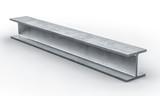 steel metal beam 3d - 187342873