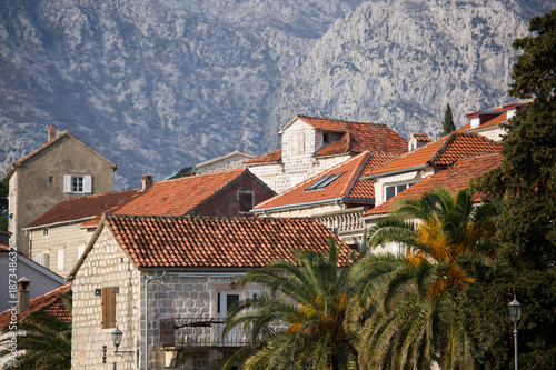 View of the city of Perast in Montenegro - 187348632