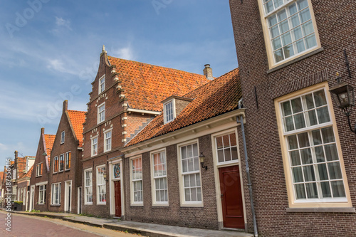 Poster Street with historic houses in Monnickendam