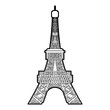 Eiffel tower icon, outline style