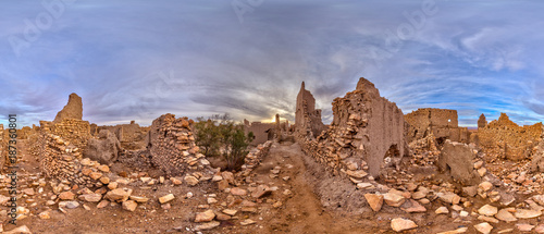 Fotobehang Panoramafoto s Kasbah Meski Marokko