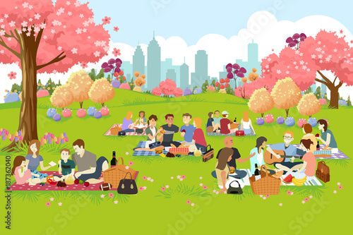 People Having Picnic at the Park During Spring