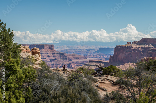Fotobehang Blauwe jeans Canyon lands