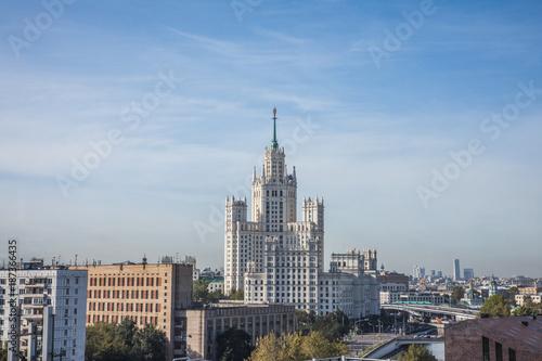 Aluminium Moskou the skyscraper on Kotelnicheskaya embankment