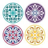 Set of round arabic ornaments - 187371213