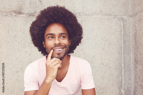 Papiers peints Kiev Thinking african american hipster man