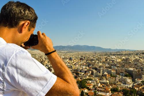 Foto op Plexiglas Athene The Athens cityscape.