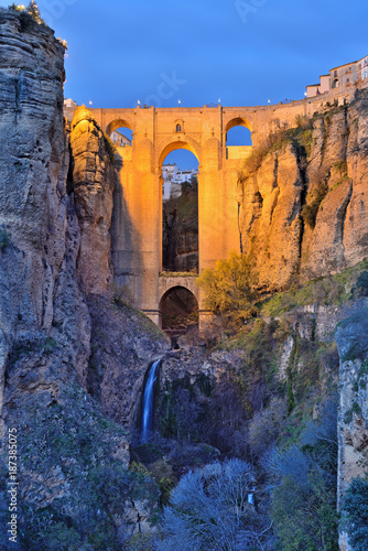 Fotobehang Bruggen Bridge in Ronda, Spain