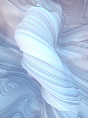 White twisted shape. Computer generated abstract geometric 3D render illustration