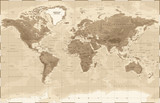 World Map Physical Vintage - vector - 187391466