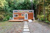 Small wooden cabin house. Exterior design. - 187394270