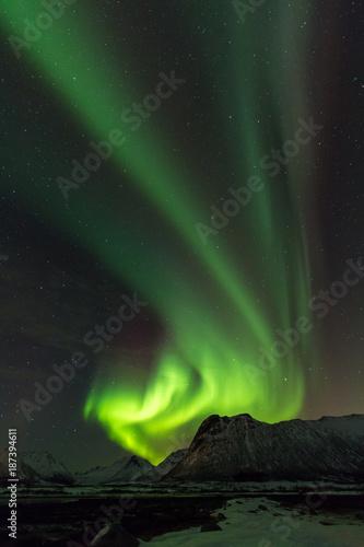 Fotobehang Noorderlicht Polarlichter in Norwegen