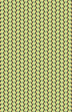 Organic looking weave pattern that alternates back and forth with pastel green and yellow.