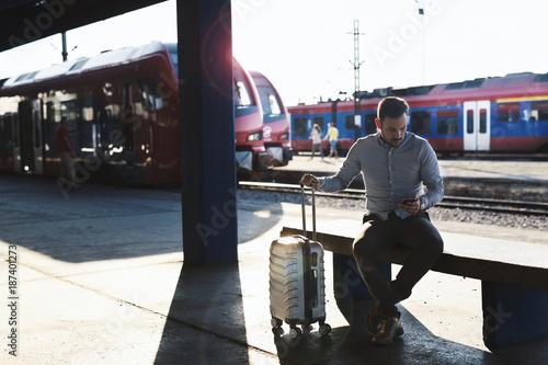 Fototapeta Train station