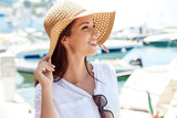 Beautiful young woman on vacation. Summer concept. - 187403272
