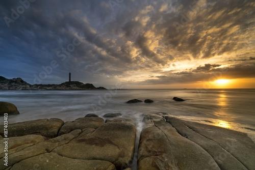 Aluminium Strand sunset
