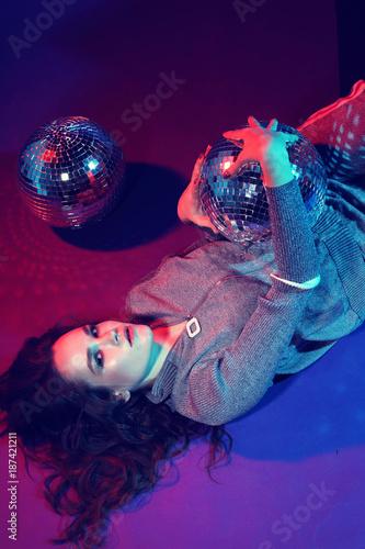 Sexy disco party woman. - 187421211