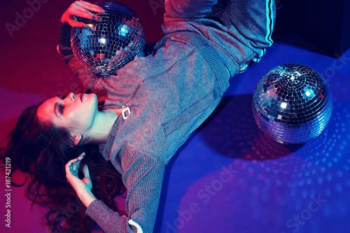 Sexy disco party woman. - 187421219