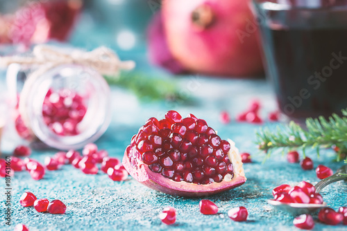 Ripe pomegranate fruit - 187431601