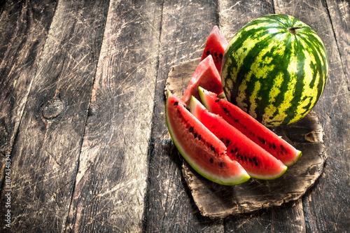 Foto Murales Fresh ripe watermelon.