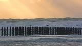 Les bouchots de Quend plage au crépuscule - 187441404