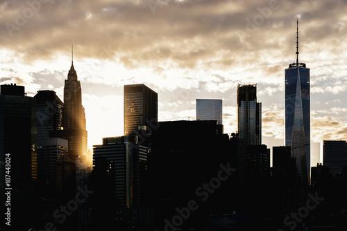 Foto op Aluminium New York Skyline of New York City.