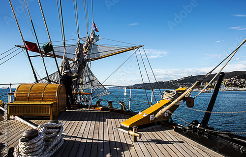 Keuken foto achterwand Schip details of Vespucci vessel