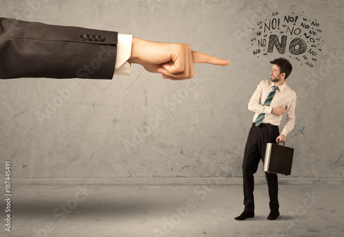 Boss hand guiding beginner salesman