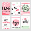 Set of abstract Valentine's day cards