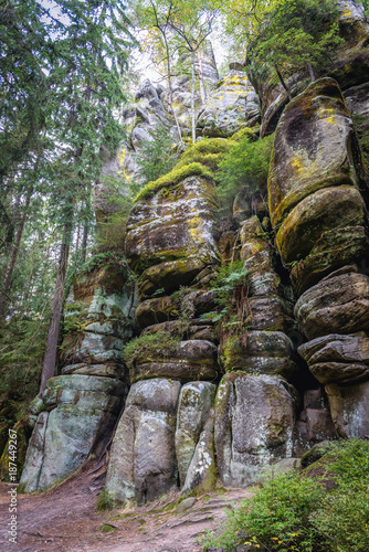 Rock formations in Teplice Rocks, part of Adrspach-Teplice landscape park in Cze Poster