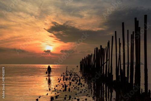 Dramatic Colorful Sunrise, Phuket, Thailand
