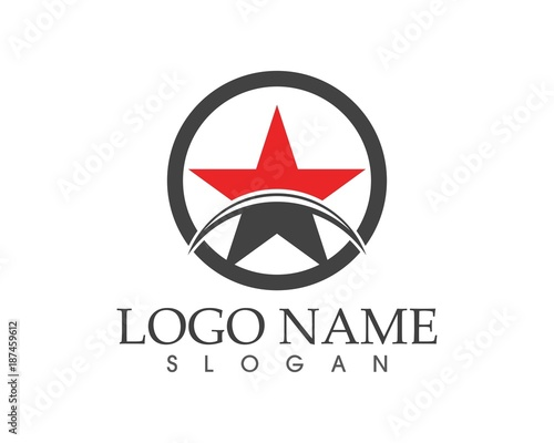 Star icon logo design template - 187459612